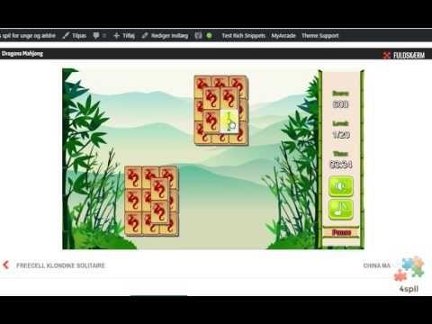 Spil fra 4 spil - Dragons Mahjong