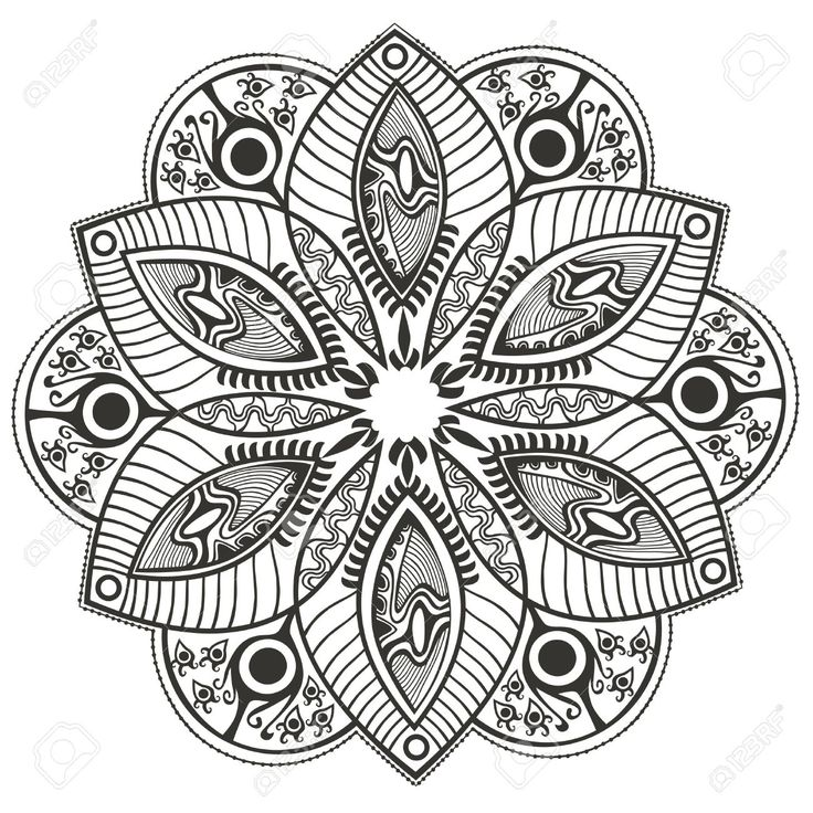 Very Original Mandala Coloring Page From The Gallery Mandalas Artist Markovka Source
