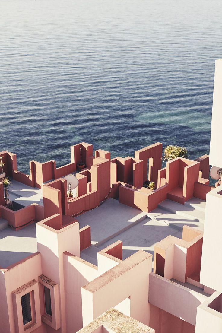 Photographer : Nacho Alegre | La Muralla Roja (The Red Wall) Spain | Architect : Ricardo BoFill