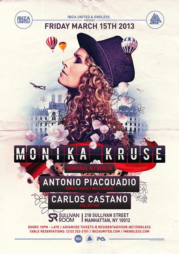 Monika Kruse Poster by Luca Masini, via Behance