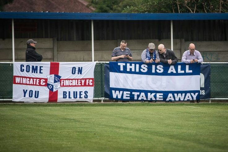 Away at Wealdstone we unveil the flag of irony