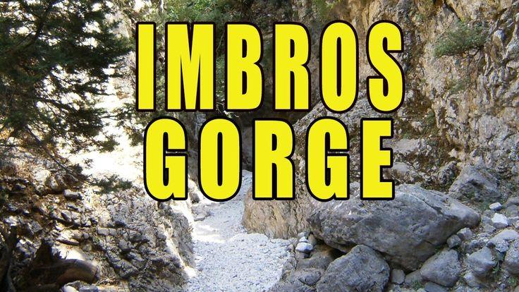 The Imbros Gorge Crete Greece