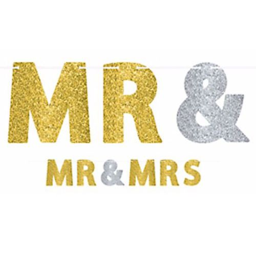 WEDDING AND ENGAGEMENT Mr. and Mrs. LETTER BANNER ~ Party Supplies Decorations #Amscan #Engagement