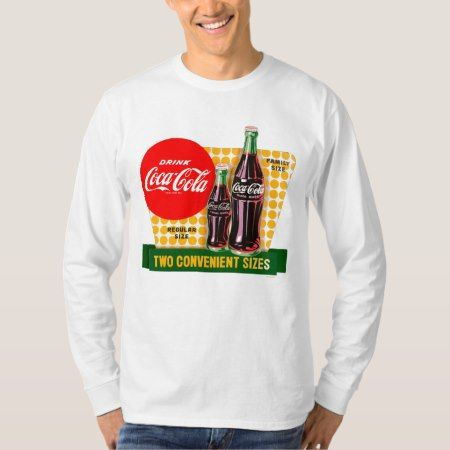 Vintage Coca-Cola | Two Convenient Sizes T-Shirt - click to get yours right now!