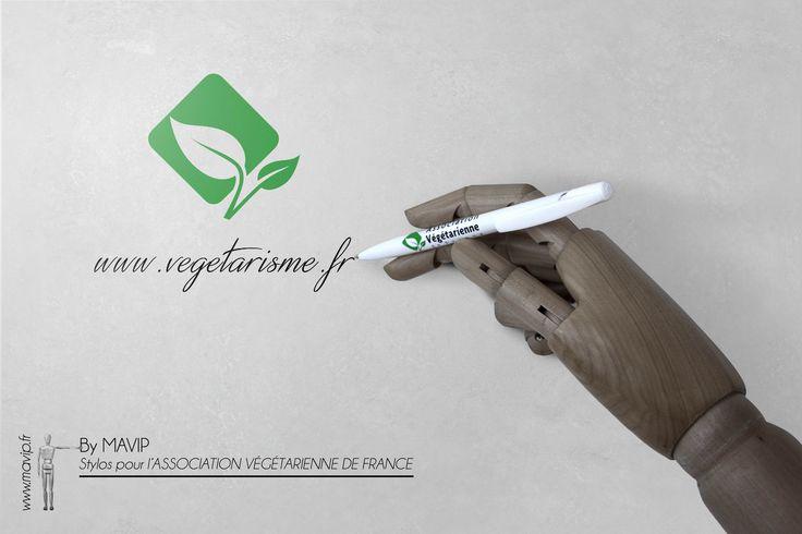 Réalisation de stylos pour l'AVF - Association Végétarienne de France