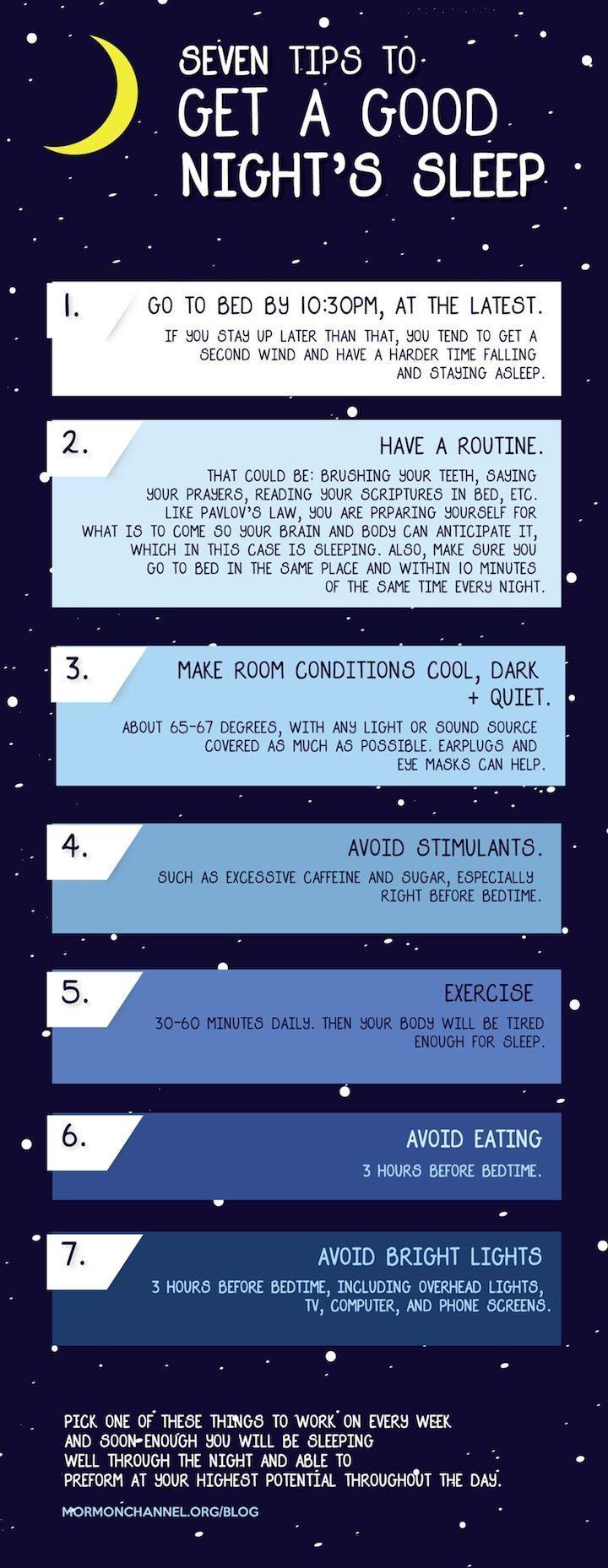 7 tips to get a good nights sleep. #vitamins #tagforlikes #followback #vitaminA