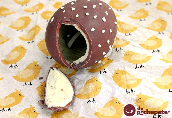 Huevos de Pascua de chocolate. Tipo huevo Kinder - Recetasderechupete.com