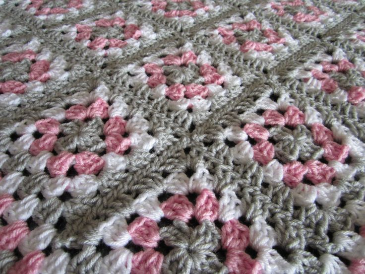 t shirts on sale Pink Gray Baby Granny Square Blanket  Crochet Pink and Gray Blanket  Pink Gray Nursery  Crochet Baby Blanket  READY TO SHIP by DonnasPinsandNeedles on Etsy