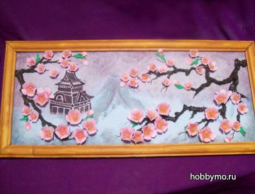 Картины из цветов из фоамирана