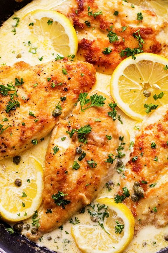 Cremay Lemon Chicken Piccata | therecipecritic.com