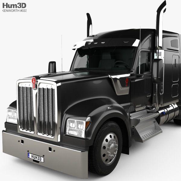 3d Model Of Kenworth W990 72 Inch Sleeper Cab Tractor Truck 2018