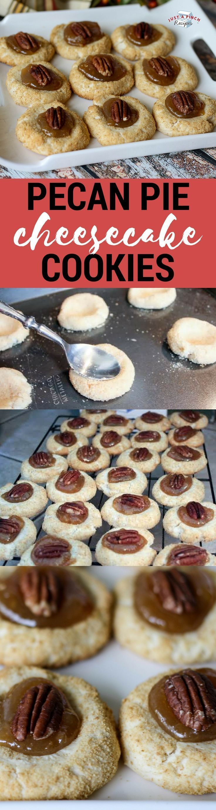 Pecan pie cheesecake cookies are easy cookies ready in less than 30 minutes #easydesserts #CookieRecipe #pecanpie