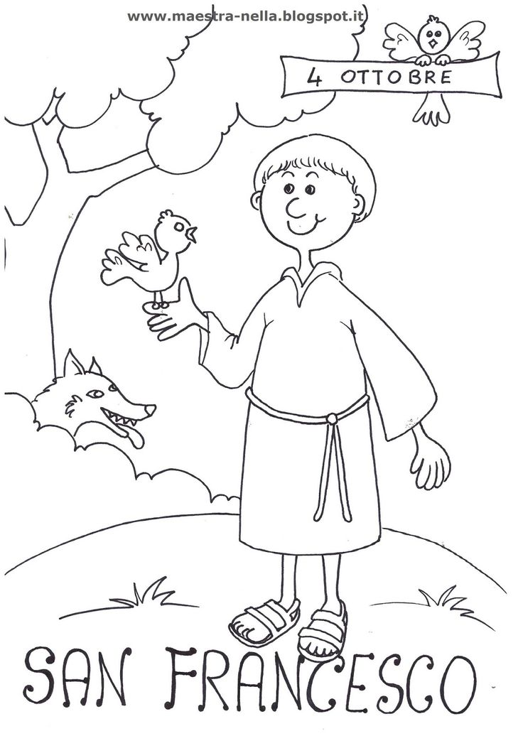 Disegni Di San Francesco D Assisi Da Colorare AE36
