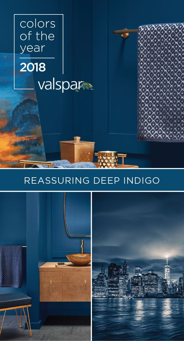 Dial up the drama in your home with our favorite Deep Indigo! Find it at a Lowe's near you (4009-7 Indigo Cloth).