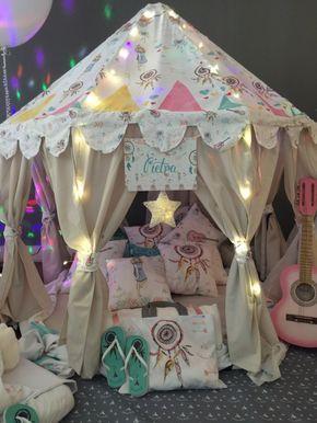 Festa do Pijama com tema Filtro dos Sonhos, por Cabanas Party. - Blog Kikids Party (www.kikidsparty.com.br)