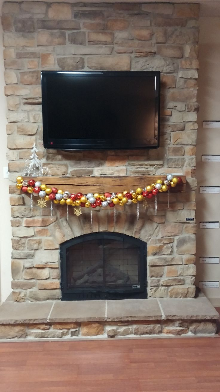 12 Best Images About Stone Fireplace Holiday Decorations