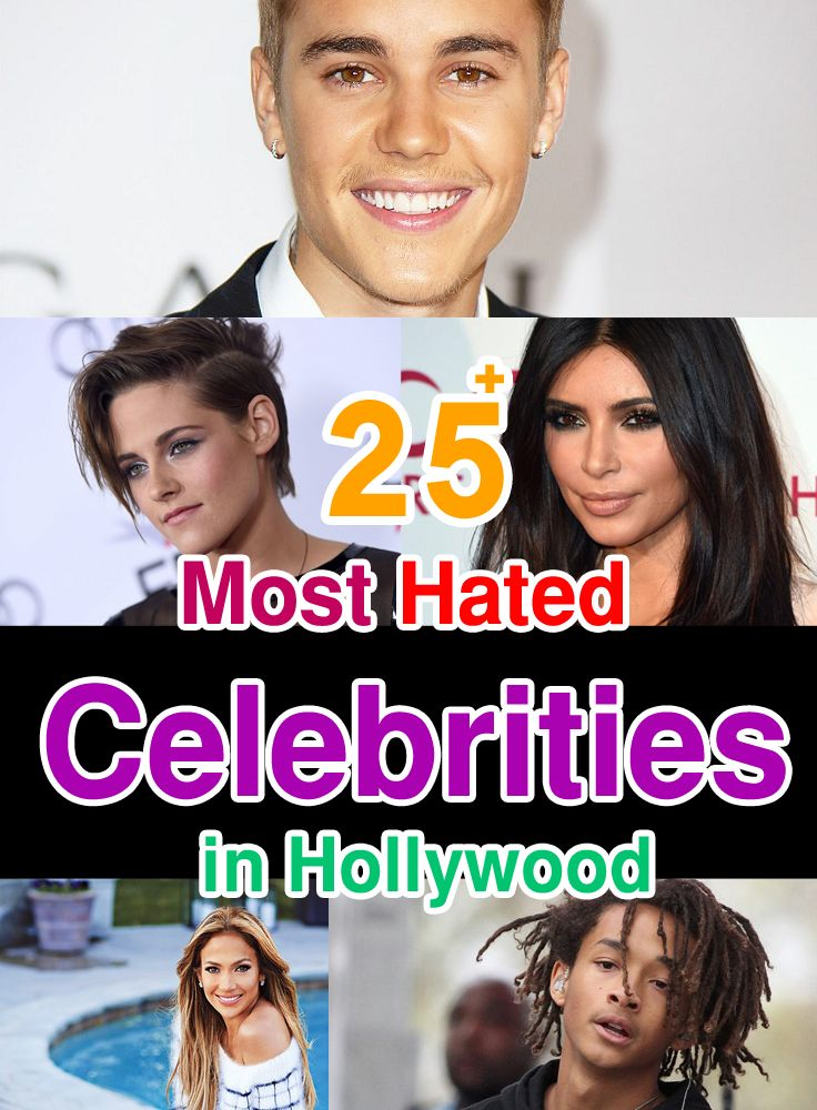 Most Hated Celebrities in Hollywood