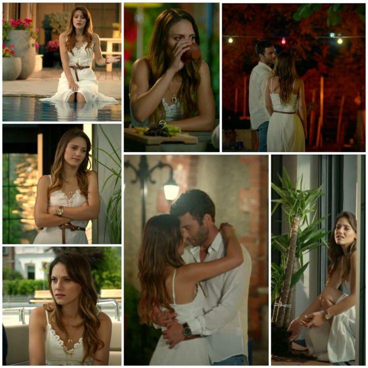 Pure white dress. Dantelle et dessin comme lingerie. .Je l'aime à la folie cette robe blanche pour les jours d' été ♡ #ateşbocëgi #asli