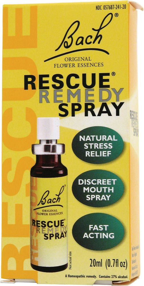 Bach Flower Remedies Essences Rescue Remedy Spray Original Flower.  You spray twice on your tongue & you literally calm down, I can get snappy & 2 sprays & I'm calm for hours. A++ Recommend. For people with stress, anxiety, temper, then THIS IS YOUR BEST FRIEND!! 100% Natural!! About $12-20