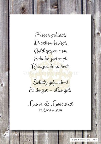 Außergewöhnlich Druck/Print: Märchen   Liebe/Hochzeit/Verlobung Von Die Persönliche Note Auf