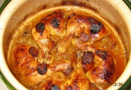 Sült csirkecomb savanyú káposztás ágyon | NOSALTY – receptek képekkel