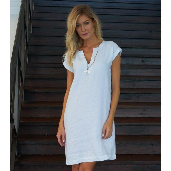 4b230561ca4 Dori Linen Dress White