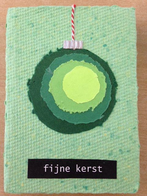 #papierscheppen #Kerstkaart #DIY #Leerlingen