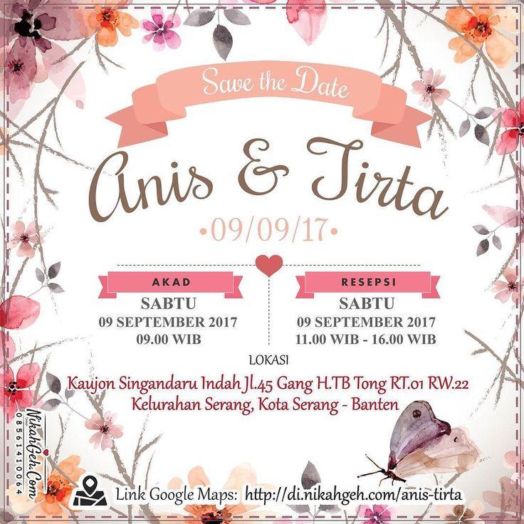 https://nikahgeh.com - E-Invitation Anis - Tirta .  Tanya-tanya atau info lebih lanjut hubungi :  WA : 08561410064 Line : nikahgeh Desain bisa cek di  http://nikahgeh.com  #weddingserang#undanganserang #infoserang #undanganminimalis #simpleinvitation #testinikahgeh #undanganpernikahanmurah #undangancantik #pesanundangan #invitationserang#kotaserang#undangancilegon #undanganpandeglang#undanganmurah #undanganpernikahan#undanganonline #undangankreatif#undanganunik#nikah…