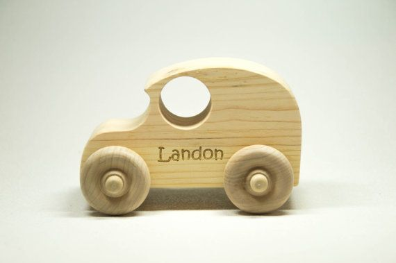 Wooden Toy Car - Personalized for Children and Toddlers - $6.00 #Christmas #GiftIdeas #UniqueGifts #Handmade #Custom #Personalized