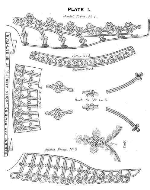 Modèles de différentes décorations à coudre sur les costumes Steampunk.