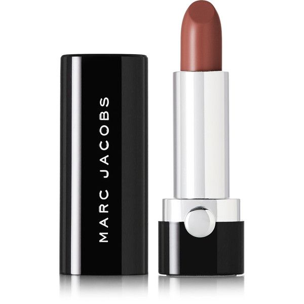 Marc Jacobs Beauty Le Marc Lip Crème - Mahogany 232 (€28) ❤ liked on Polyvore featuring beauty products, makeup, lip makeup, chocolate, marc jacobs makeup, marc jacobs, paraben free makeup, marc jacobs cosmetics and paraben free cosmetics