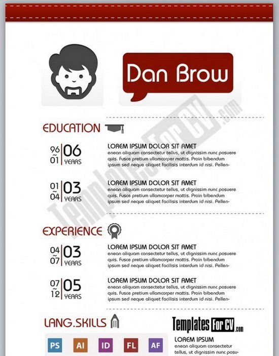 Best Originele CvS Images On   Resume Templates Cv