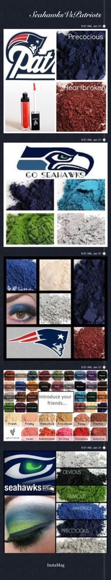Seahawks Vs Patriots! It's Super Bowl Weekend! Fantasy  Football Eyes! What Team Do You Want To Win?? Visit Our Website To Order Amazing Team Eyewear http://naturally3dlashes.com