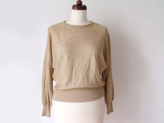 Gold Lame Sweater 69