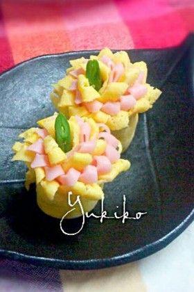 お弁当に☆薄焼き卵とハムのお花❀ by ゆきん♪ [クックパッド] 簡単おいしいみんなのレシピが252万品