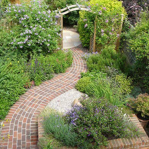 Best 7 small garden rooms images on pinterest gardening for Round garden pond designs