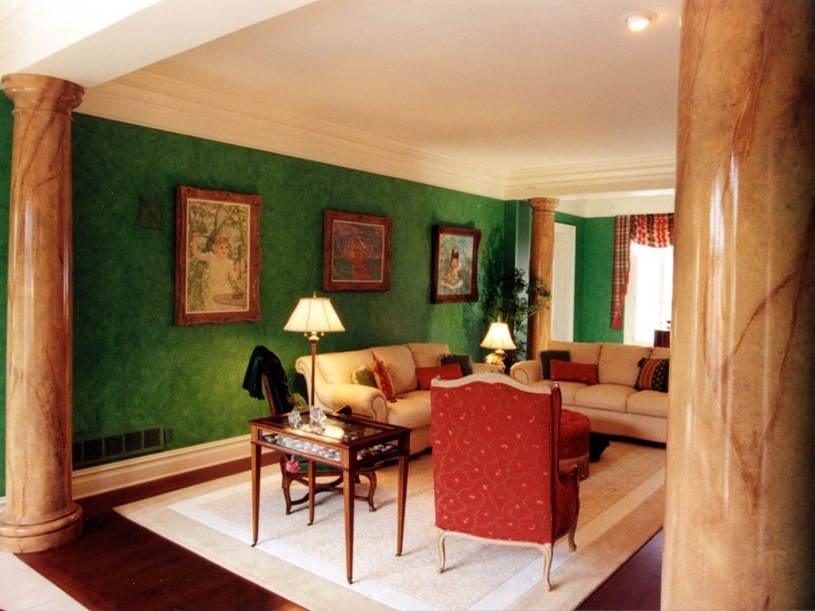 Living Room With Faux Finish Columns Other Spaces By J S