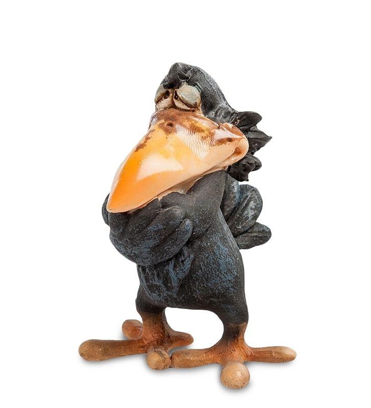 Фигурка «Ворона - мыслитель Виспер» ED-88      Страна производства: Китай;   Материал: полистоун;   Длина: 5 см;   Ширина: 4 см;   Высота: 7 см;   Вес: 0,05 кг;          #figurines #polyston #polyresin #статуэтки #фигурки #полистоун #ворона