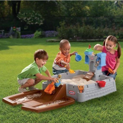 Little Tikes Sandbox Accessories Castle Adventure Playground Party Kids Activity #LittleTikes