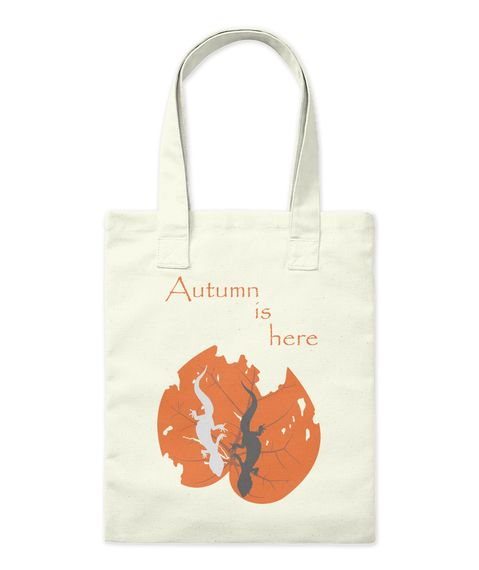 Autumn Is Here Natural Tote Bag Front