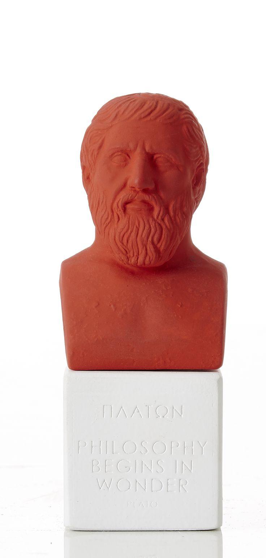 "Plato - ""Philosophy begins in wonder"" Weight: 300 gr Dimension: 13,5x5,5x5cm Material: ceramine Color: deep red"