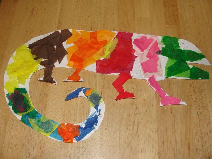 mixed up chameleon.. Art work sttion!?!?