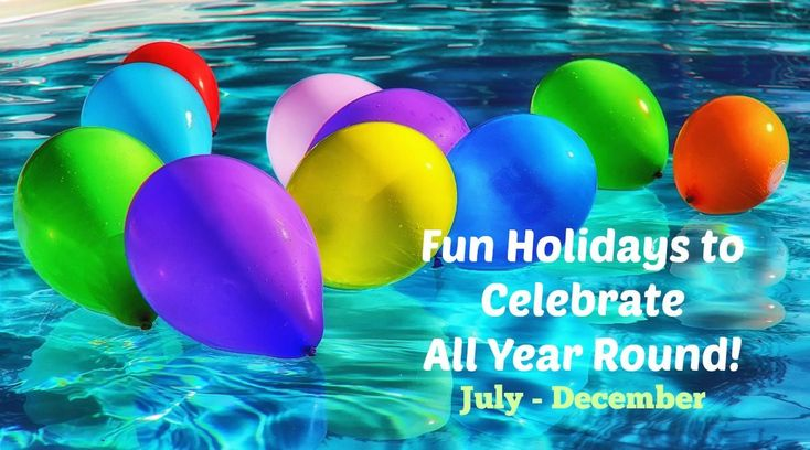 Here are great ideas of some real and unusual holidays (from July to December) to celebrate with kids (and some ideas of activities to do to celebrate them). From gunghograndma.com