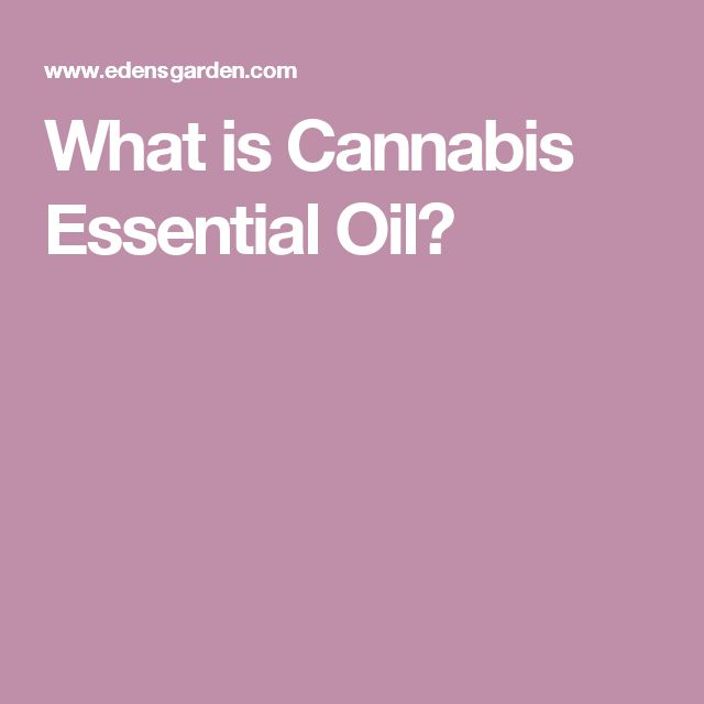 What is Cannabis Essential Oil?