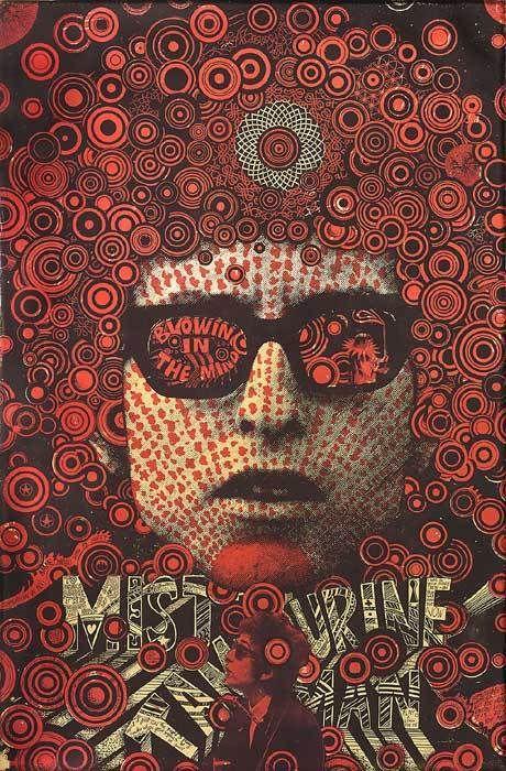 Vintage Bob Dylan concert poster. - Hippie, Woodstock, classic rock.