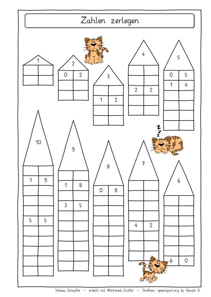 Eulenpost - Zahlen zerlegen 10 | Számok bontása | Pinterest | Math ...