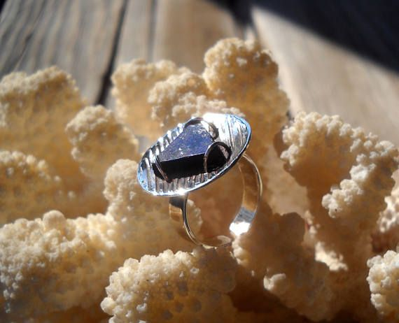 Triangle Lapis Lazuli Ring Sterling Silver Ring Triangle