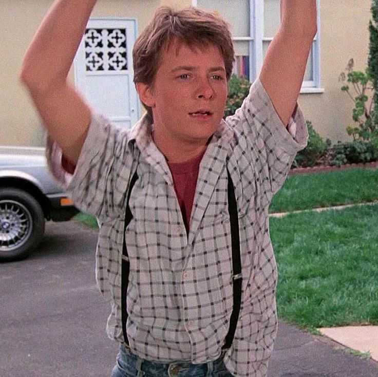 Shah Safari shirt worn by Michael J. Fox as Marty McFly in Back to the Future. Shah Safari is a Seattle-based company run by brothers Raj and Akhil Shah.