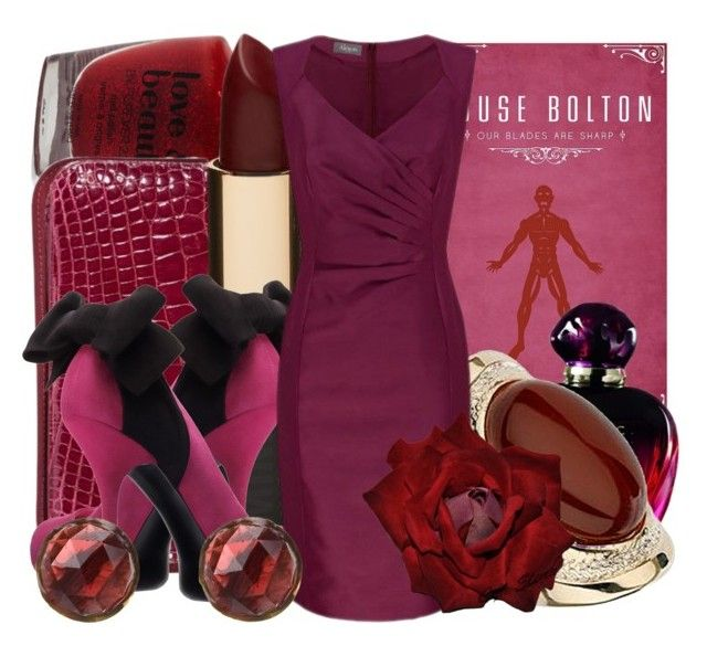 """""""House Bolton"""" by matelda ❤ liked on Polyvore featuring Forever 21, RAGAZZE ORNAMENTALI, Mimco, Christian Dior, Wallis, Alexon, Cathy Waterman and GameOfThrones"""