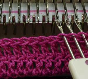 cast on rag for machine knitters